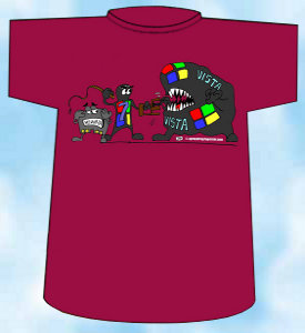 Camiseta 32 humor informatico windows 7 contra windows vista